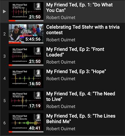 screen shot of a YouTube playllist